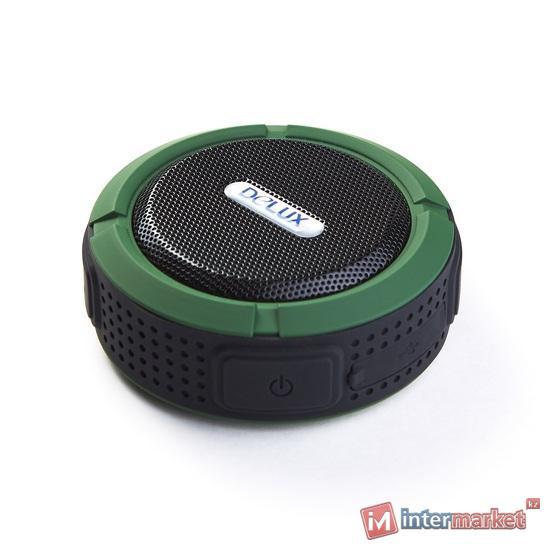 Колонки, Delux, DLS-Q11BB, Чёрно-зелёный