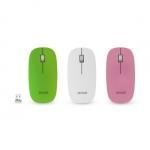 Мышь Delux DLM-112LGC 3D, 3 сменные лицевые панели, (Белый, Розовый, Зелёный)